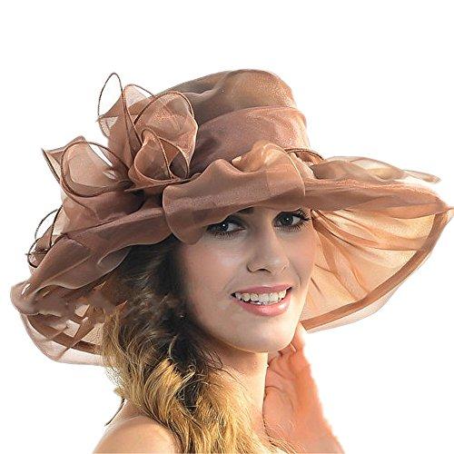 b1fda0f62b95c Fashion Wedding Hats for Brides Diameter 58cm Evening Hats Women Elegant  Formal Hair-Accessories-Cheap Sun Hats (Black) at Amazon Women s Clothing  store