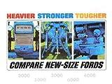 1965-1966 FORD TRACTOR SALES BROCHURE MODELS 2000 3000 4000 5000 6000
