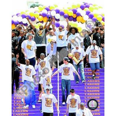 (20x24) Los Angeles Lakers 2009 NBA Championship Victory Parade Glossy Photograph