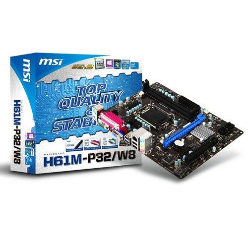 MSI H61M-P32//W8 Intel H61 m-ATX PCI-E, z/ócalo LGA 1155 Placa Base