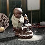 Autumn Water The Little Monk Censer Creative Home Decor Small Buddha Incense Holder Backflow Incense Burner Use in Home Office Teahouse