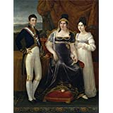 Canvas Prints Of Oil Painting ' Aparicio E Inglada Jose La Reina De Etruria Y Sus Hijos Ca. 1815' 16 x 21 inch / 41 x 54 cm , Polyster Canvas Is For Gifts And Game Room, Garage And Hallway Decoration