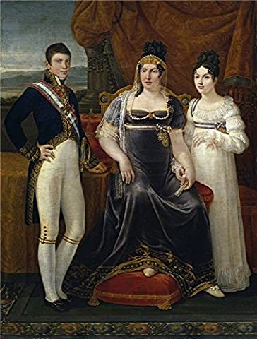 Oil Painting 'Aparicio E Inglada Jose La Reina De Etruria Y Sus Hijos Ca. 1815' 16 x 21 inch / 41 x 54 cm , on High Definition HD canvas prints is for Gifts And Game Room, Garage And Hallway (Sus Tab)
