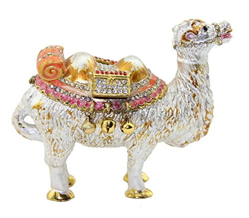 (znewlook White Camel Trinket Box with Crystals Factory)