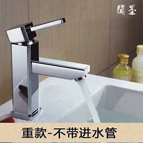 LHbox Riechen Sie Den Den Den Minimalistischen Waschbecken Wasserhahn Warmes und Kaltes Voll Kupfer Waschbecken Waschbecken Wasserhahn Wasserhähne von Hand Waschen, Um zu Versuchen, mit Rohr 7a624d