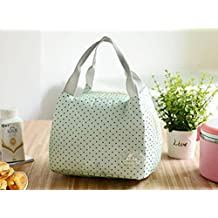 Portable Thermal Insulated Lunch Container Lunch Box Storage Bag Picnic Carry Totes Pouch Lunchbag,Green