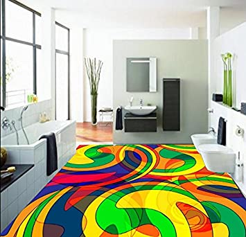 Malilove 3d Floor Painting Wallpaper Abstract Fashion