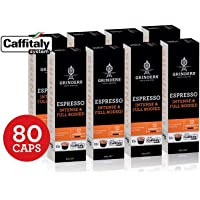 Grinders Coffee Caffitaly Compatible Capsules, 8o Espresso Capsules