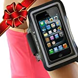 Best iPhone 5 Armband for Running, Solid iPod Holder, iPod Holder for Running, Double Thickness Neoprene iPhone 5 Exercise Case for Gym, Walking, Jogging. Lifetime Warranty.