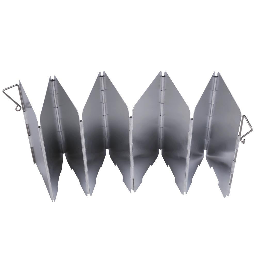 Domybest 9-plates Foldable Camping Stove Wind Shield Screen Cookout Picnic Windbreak