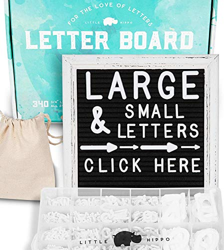 - Felt Letter Board 10x10 | +690 PRE-Cut Letters +Stand +Sorting Tray +Cursive Words | Vintage Farmhouse Letterboard with Letters, Rustic Letter Boards, Word Board, Message Board, Sign (Black)