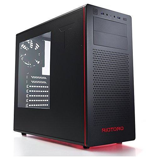 RIOTORO Full Tower, Fully Customizable RGB Color Gaming Case (CR480 – Mid Tower)