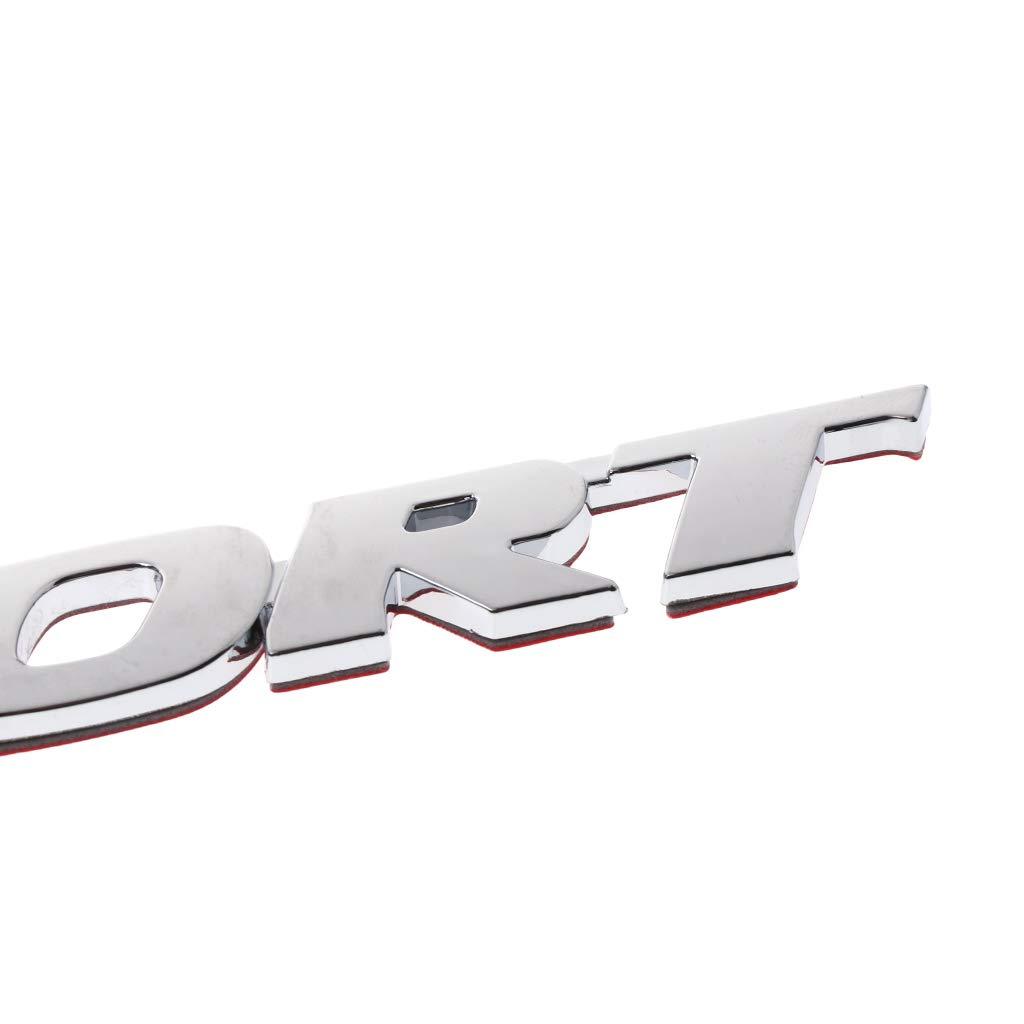 planuuik Car Styling 3D Sport Emblem Badge Porta Decalcomania ABS Cromato Adesivo Univesal