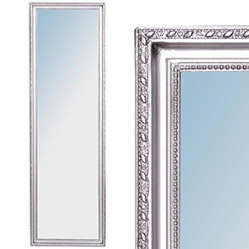 Wandspiegel BAROCK Silber ANTIK HOLZRAHMEN SPIEGEL 130x40cm Stretto