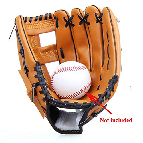 - TYPOST Professional Youth Baseball Gloves Soft Thicken Durable PU Leather Outfielder's Mitt Brown (11.5 Inch)