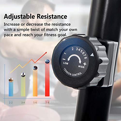 Merax Magnetic Recumbent Exercise Bike | 8-Level Resistance | Quick Adjust Seat (Black/Yellow) by Merax (Image #2)