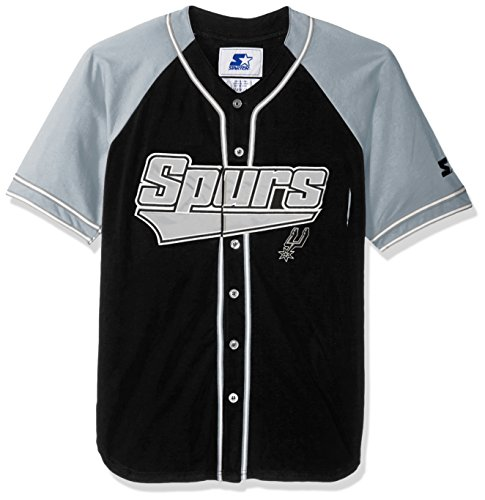 STARTER NBA San Antonio Spurs Men's The Player Baseball Jersey, X-Large, Black