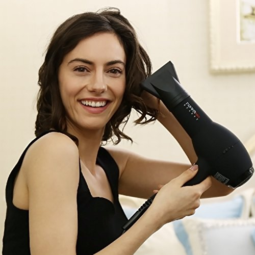 PARWIN BEAUTY Tourmaline Ceramic Hair Straightener Hair Curler and Dryer Set - 1 Inch Digital LCD Ceramic Flat iron, 13 to 25 mm Curling Iron and 2 Speed Hair Dryer, Black by PARWIN BEAUTY (Image #5)