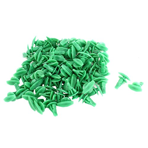 uxcell a15031900ux0186 100Pcs Green Plastic Rivet Clips 5mm x 10mm x 15mm, 100 -