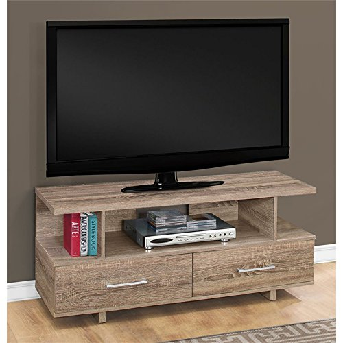 Monarch Specialties TV Stand, Dark Taupe, I 2607