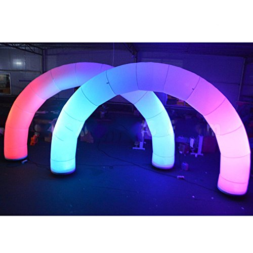 BMGIANT giant inflatable arch archway with RGB lights and two browers 16.4'' and 9.84'' for wedding,party, ball,commercial advertising and all activities.