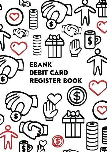 ebank debit card register book check debit card log book check