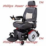 Merits Health Products - Vision Super - Midwheel Drive Power Chair - 22''W x 20''D - Red - PHILLIPS POWER PACKAGE TM - TO $500 VALUE