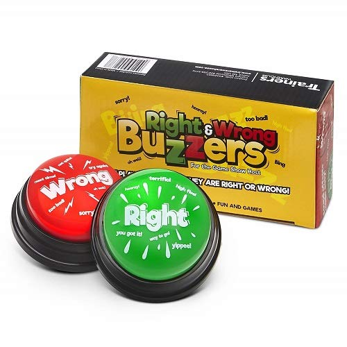 Answer Buzzers (Set of 2) New & Improved, Classroom Tool