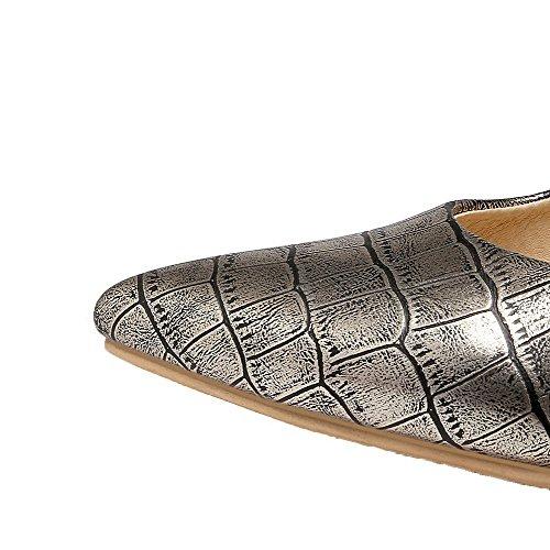 Chaussures Rayure Légeres Tire AllhqFashion d'orteil Femme Doré Stylet Fermeture wTnSB