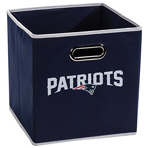 Franklin Sports NFL New England Patriots Fabric Storage Cubes - Made To Fit Storage Bin Organizers (11x10.5x10.5