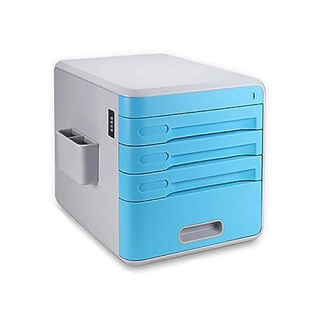 Archivadores con espiral Gabinete de archivos de escritorio mesa de gabinete de plástico con contraseña de