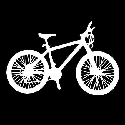 Kllomm 3 Piezas de 15.5 cm * 10.1 cm Deporte Bicicleta de equitación decoración Regalo Bicicleta decoración Coche Pegatina-Blanco_: Amazon.es: Coche y moto