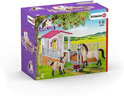 Schleich Horse Club Play Set Horse Stall with Arab Horses and Groom