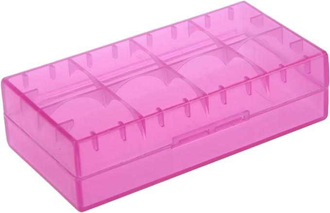 SODIAL(R) 5X 18650 CR123A 16340 de plastico duro transparente de almacenamiento caso titular caja de la bateria: Amazon.es: Informática