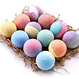 12 Bath Bombs Set, Anjou lush Fizzy Spa Set Includes Natural Essential Oils for Bubble Bath, Birthday Mothers Day Gifts Idea for Her/Him (12 x 3.5 oz)