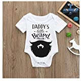 MOVEmen Onesies Newborn Kids Baby Letter Print Boys Girls Outfits Clothes Romper Jumpsuit Bodysuit Leisure Mountain Climbing Suit Baseball Uniform Sportswear Letter Printing Travel Set (White, 90)