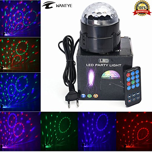 TRNS Disco Ball Party Lights RGB Colors Mini Magic Stage Lighting Effects DJ Strobe LED Bulbs with Remote Control for Kids Birthday Karaoke Club Bar Wedding Dance Night Halloween Automatic (Custom Dance Costumes Makers)