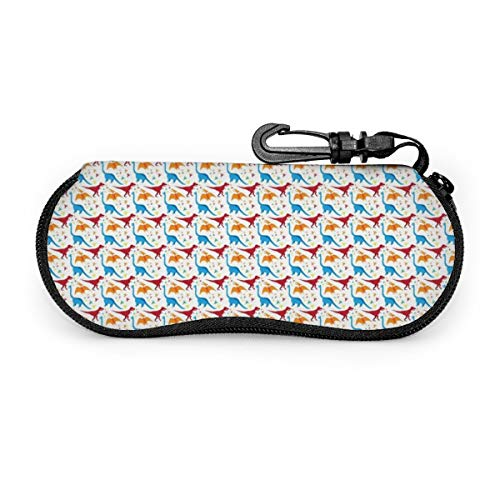 Sunglasses Eyeglasses Case - Durable Zippered Glasses HolderTie Dye