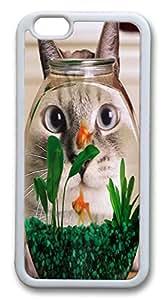 VUTTOO Funny Cat Fish Tank Custom iphone 6 plus 5.5inch Case Cover TPU White