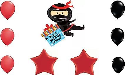 Amazon.com: Have A Kickin Birthday Ninja Birthday Balloon ...