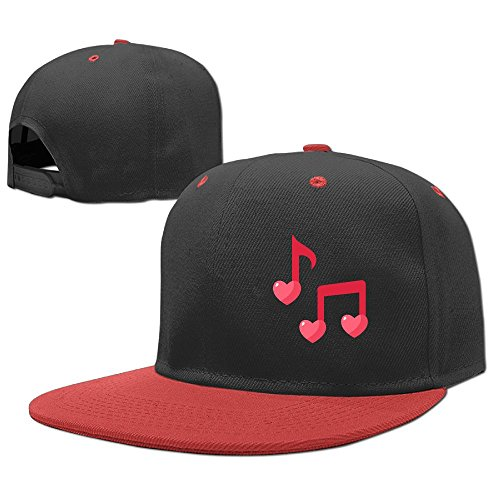 YELOFISH Kids' Hip Hop Baseball Caps Love Music Notes Snapback Hats