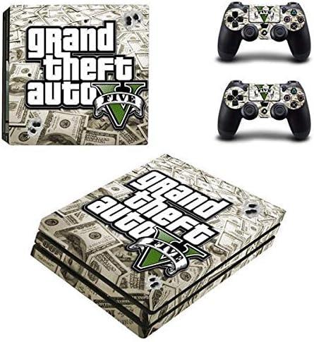 thtb Playstation 4 Controlador Pro + 2 pegatinas protectores Set – GTA V (4)/PS4 P: Amazon.es: Juguetes y juegos