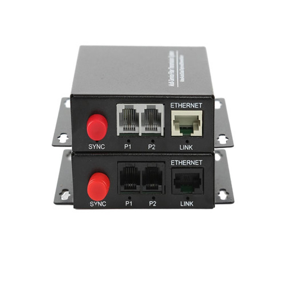 Guantai 2 Channels PCM Voice Telephone Fiber Optic Media Converters with Ethernet 1Pair