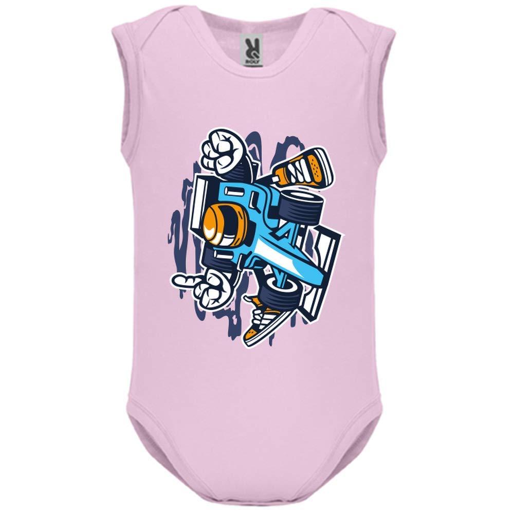 LookMyKase Body bébé - Manche sans - Racer - Bébé Fille - Rose - 3MOIS