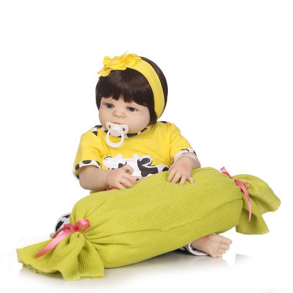 IIWOJ Reborn Baby Doll Simulation niedliche 57cm Mädchen Silikon Puppe Fotografie Requisiten B07KXBRQBG Babypuppen Hochwertige Materialien | Verschiedene Arten Und Die Styles