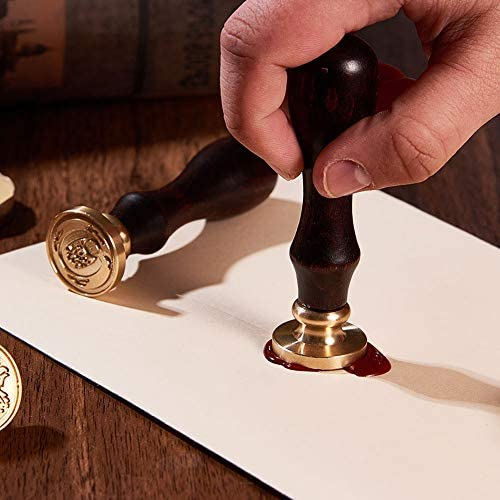 Card Decor Wax Seal Stamp Brass Head 26 Letters A-Z Alphabet Initial Flower