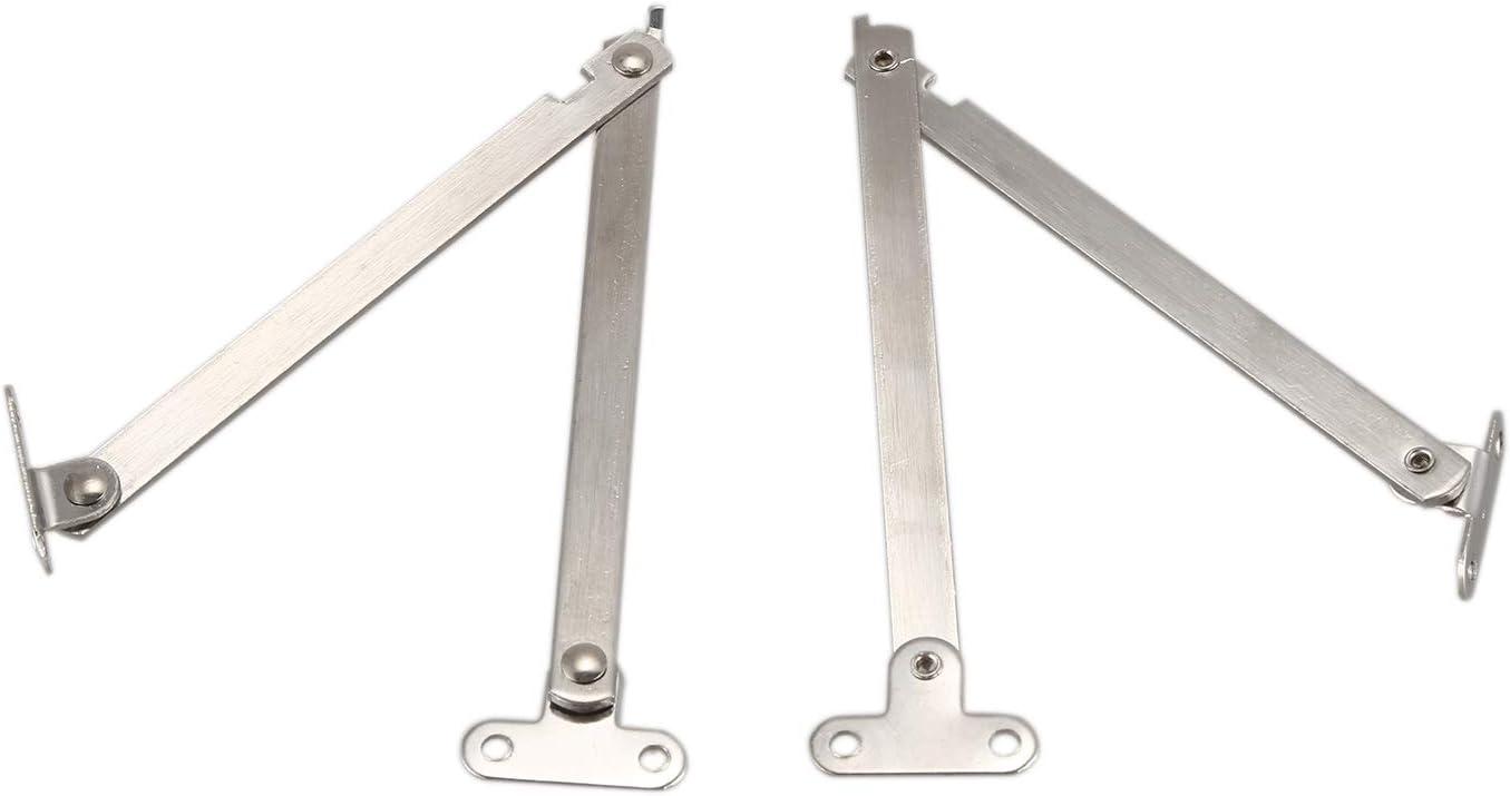 Nrpfell 2 pzs Sosten de bisagra soporte de tapa de Escritorio Puerta Mueble de metal