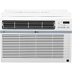 Cool a little and save a lot with this LG energy star 10,000 BTU 115V window air conditioner with Wi-Fi control. Ideal for cooling a room up to 450 square feet, LG smarting app gives you full feature control with your smartphone including tem...
