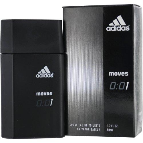 Adidas Moves 0:01 By Adidas Eau-de-toilette Spray for Men, 1.70-Fluid Ounce