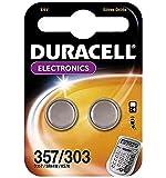 Duracell SR44/357/303 - Pilas de botón de óxido de plata para relojes (2 unidades)